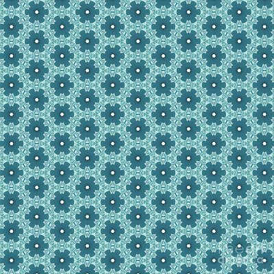 Digital Art - Abstract Turquoise Pattern 4 by Alisha at AlishaDawnCreations