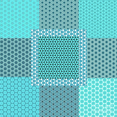 Digital Art - Abstract Turquoise Pattern Mockup C1 by Alisha at AlishaDawnCreations