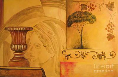 Abstract Tuscany Garden Art Print