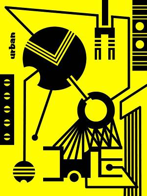 Abstract Urban 02 Art Print by Dar Geloni