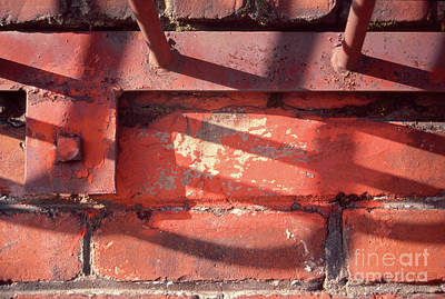 Photograph - abstract urban photographs - Bricks and Bars by Sharon Hudson