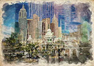 Photograph - Abstract Vegas Vi by Ricky Barnard