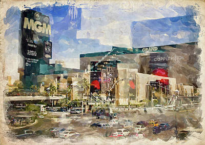 Photograph - Abstract Vegas Vii by Ricky Barnard
