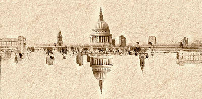 Photograph - Abstract Vision Dome Of St Pauls Cathedral London by Jacek Wojnarowski
