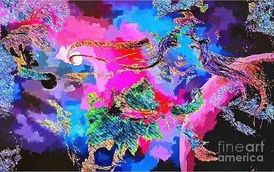 Painting - Abstract Visual Set 2 by Catherine Lott