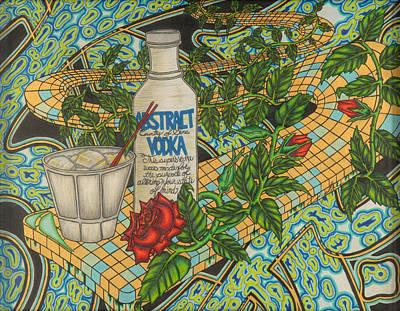 Vodka Mixed Media - Abstract Vodka by Angelo Sena