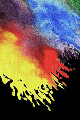 Painting - Abstract Volcano Splashes Of Lava Watercolor  by Irina Sztukowski
