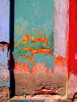 Abstract Wall By Michael Fitzpatrick Art Print by Mexicolors Art Photography