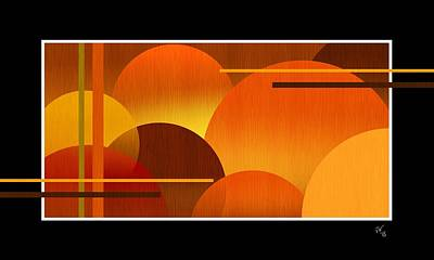 Digital Art - Abstract Warm Spheres by John Wills