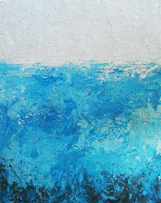 Abstract Water Art Print by Angelina Sofronova