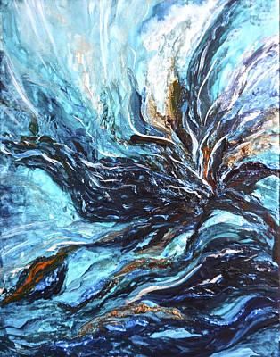 Abstract Water Dragon Art Print