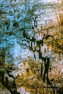 Photograph - Abstract Water Reflection by Daliana Pacuraru