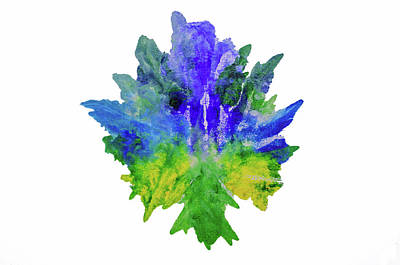 Photograph - Abstract Watercolor Leaf by Tikvah's Hope