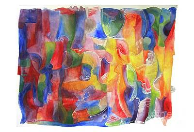 Painting - Abstract Watercolor by Lydia L Kramer