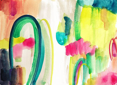 Abstract Watercolor Art Print by My Art