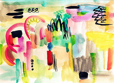 Abstract Watercolor Painting Art Print by My Art