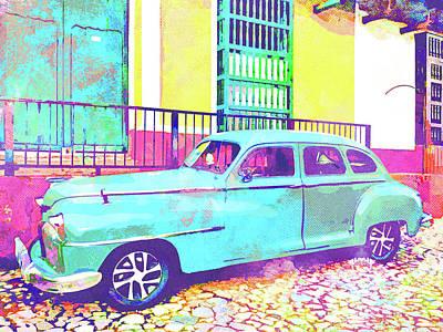 Cuban Mixed Media - Abstract Watercolor - Trinidad Cuba Classic by Chris Andruskiewicz