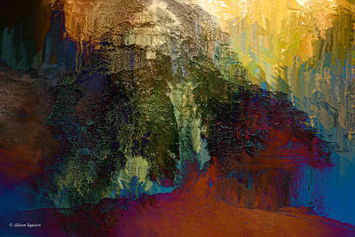 Montour Photograph - Abstract Waterfall by Alison Squiers