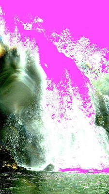 Digital Art - Abstract Waterfall by Erika Swartzkopf