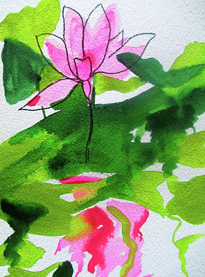 Painting - Abstract Waterlily by Sacha Grossel