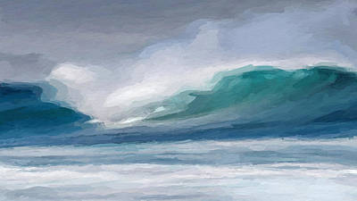 Mixed Media - Abstract Wave by Anthony Fishburne