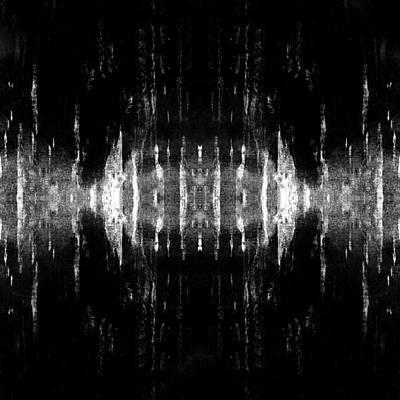 Sun Rays Digital Art - Abstract  Wave Bw by Filippo B