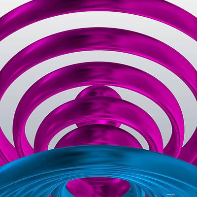 Geometric Art Digital Art - Abstract Waves 2 by Alberto  RuiZ