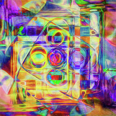 Abstract Digital Digital Art - Abstract - Wheels Within Wheels by Jon Woodhams