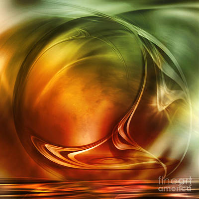 Digital Art - Abstract Whiskey by Johnny Hildingsson