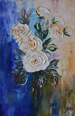 Abstract White Roses Original