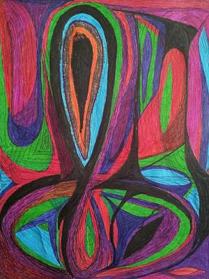 Nature Of Reality Drawing - Abstraction 20 by William Douglas