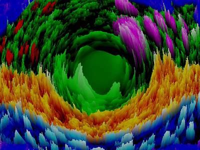 Abstract. Wind. Flowers. Dizziness Art Print by Dr Loifer Vladimir