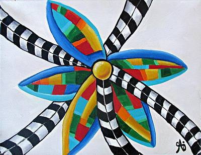 Painting - Abstract Windmill  by Ai P Nilson