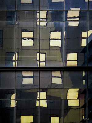 Photograph - Abstract Window Reflections - Nyc by Dave Gordon