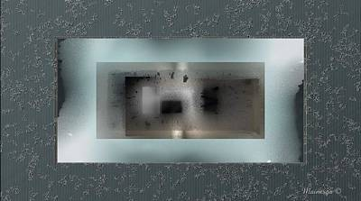 Digital Art - Abstract Window With A View by Ines Garay-Colomba