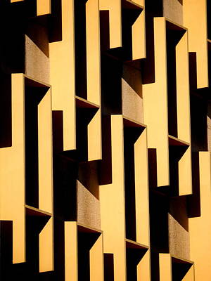 Photograph - State Building Abstract by Guntis Lauzums