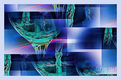 Abstract Wine  Art Print by Pamela Blizzard