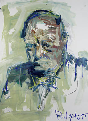 Painting - Abstract Winston Churchill Portrait by Robert Joyner