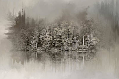 Photograph - Abstract Winter Lake by Jai Johnson