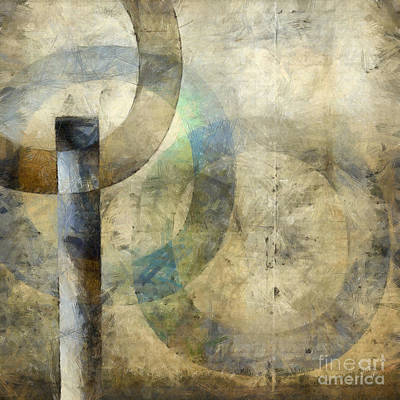 Abstract With Circles Art Print by Edward Fielding