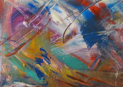 Painting - Abstract With Gold - Close Up 1 by Anita Burgermeister
