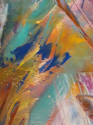 Painting - Abstract With Gold - Close Up 2 by Anita Burgermeister