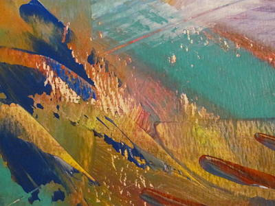 Painting - Abstract With Gold - Close Up 5 by Anita Burgermeister