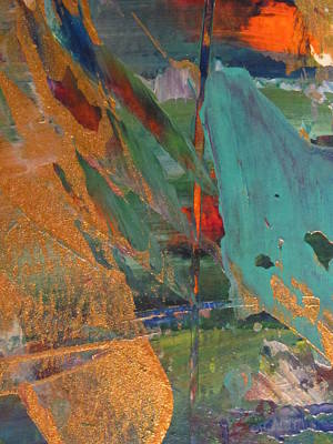 Painting - Abstract With Gold - Close Up 7 by Anita Burgermeister