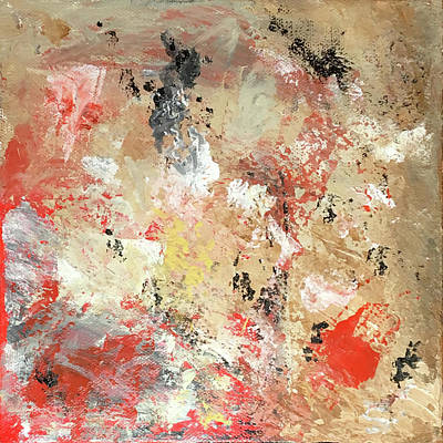 Painting - Abstract With Red by Judy Tolley