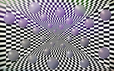 Op Art Photograph - Abstract With Texture by Eleanor Bortnick