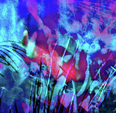 Digital Art - Abstract With The Blues  Espanol by Femina Photo Art By Maggie