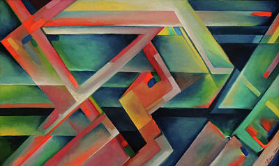 Painting - Abstract Lost In Space 2000 by Nancy Griswold