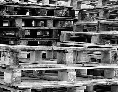 Wooden Platform Photograph - Abstract Wooden Palets by Martin Newman