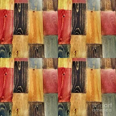 Abstract Woodgrain Art Swatches  Art Print